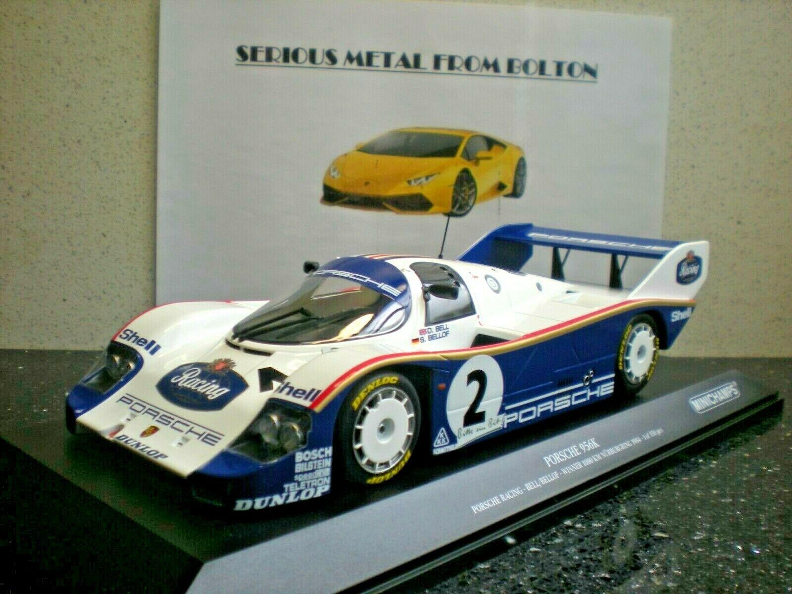 1:18 Minichamps Porsche 956K Winner 1000km Nürburgring Bellof//Bell